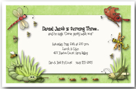 Bugging You Boys Birthday Party Invitation