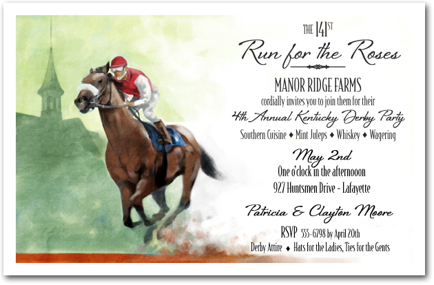 Front Runner Kentucky Derby Party Invitation