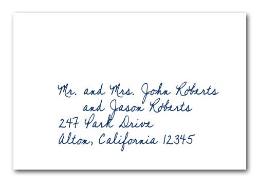 Addressing Letter Mr And Mrs