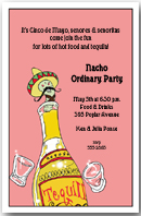 Tequila Worm Party Invitation
