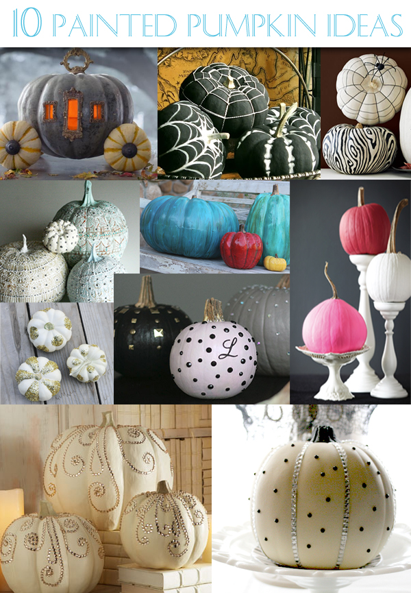 10 Painted Pumpkin Ideas