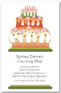 Fantasy Cake Kids Birthday Invitation