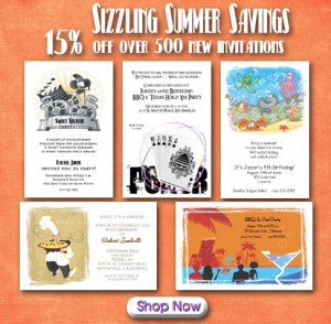 Sizzling Summer Savings on Over 500 New Invitations