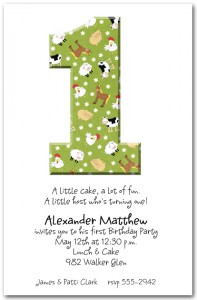 Birthday Numbers Invitations