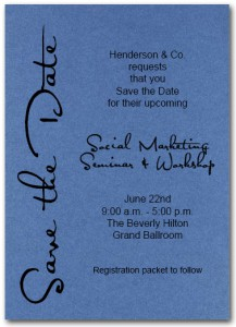 Business Save the Date Cards