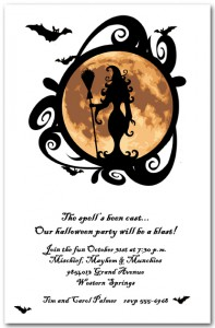 Full Moon Witching Hour Halloween Invitation