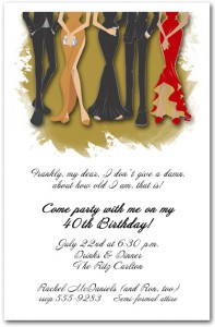 Legs Formal Party Invitation