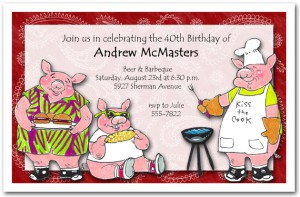 Porky's Barbeque Invitation