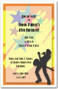 Rockstar Invitation for Teen Birthday Party