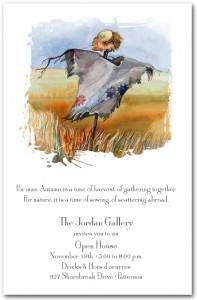 Autumn Scarecrow Invitation