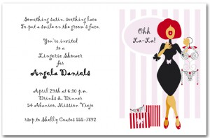 Ohh La La Lingerie Bridal Shower Invitations