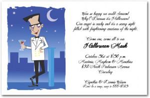Suave Vampire Halloween Invitation