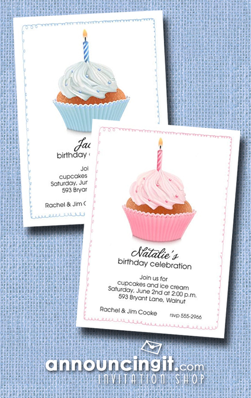 Kids Birthday Party Invitations | See the entire collection at Announcingit.com