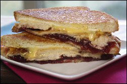 Cranberry Turkey Grilled Cheese Sandwich