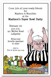 Super Bowl is February 5 2012 Have you Ordered Party Invitations