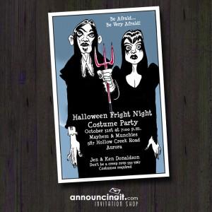Goth Halloween Party Invitations