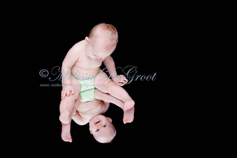 Baby Photo Session with Mirror Reflection