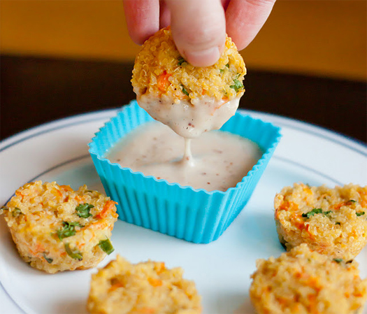 Cheesy Quinoa Bites Recipe