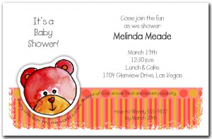 Zoo Babes Bear Baby Shower Invitations