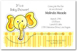 Zoo Babes Elephant Baby Shower Invitations