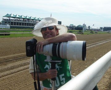 My Kentucky Derby Hat on the Track