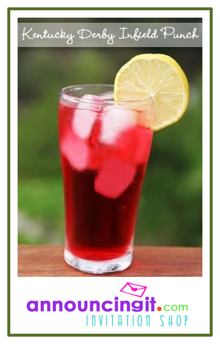 Kentucky Derby Infield Punch   See all our horse racing invitations and more at Announcingit.com