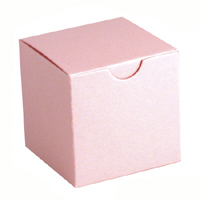 Shimmery Pink Party Favor Boxes - 2 inch square