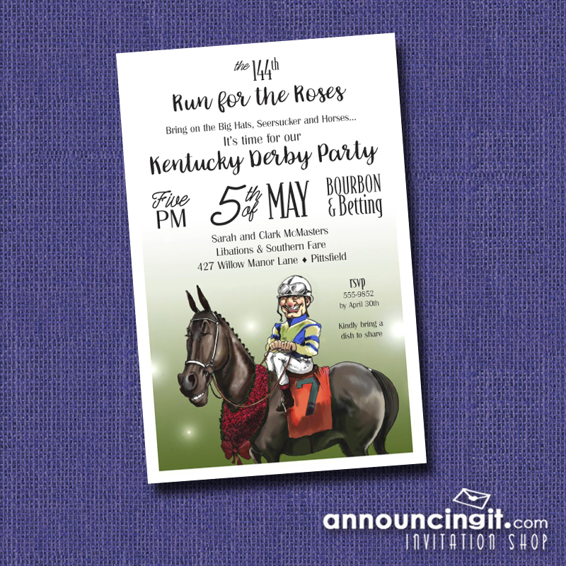 Winning Smiles Kentucky Derby Party Invitations | See the entire collection at Announcingit.com