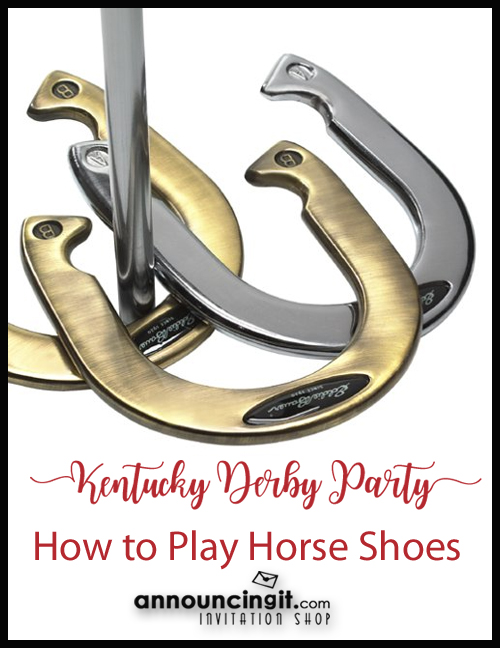 How to Play Horse Shoes at your Kentucky Derby Party | Announcingit.com