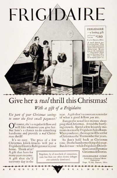 1927 Frigidaire Refrigerator Ad