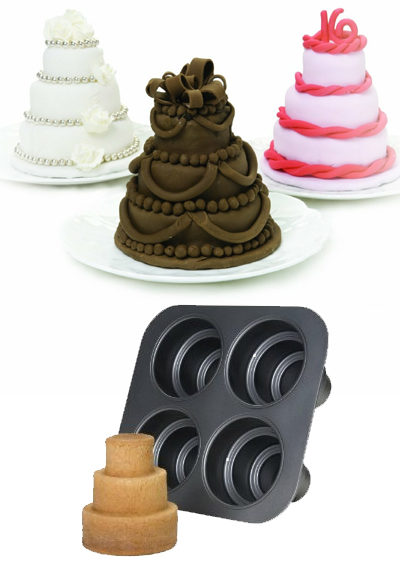 Multi Tiered Mini Cakes Baking Pans