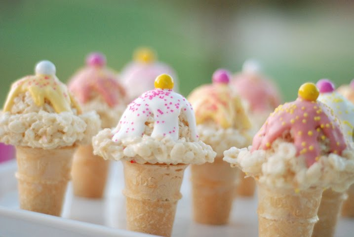 Rice Crispie Ice Cream Cones