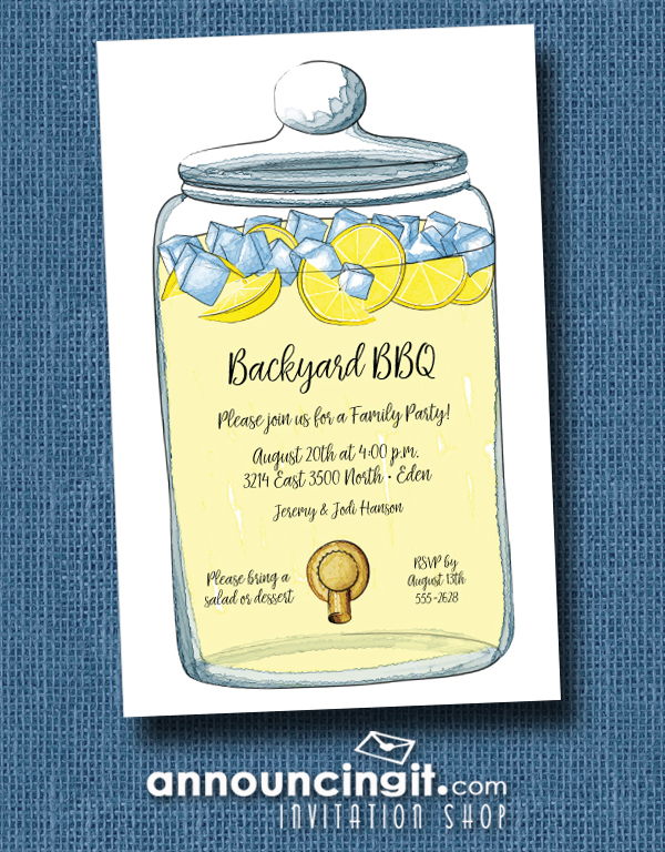 Infusion Jar Party Invitations at Announcingit.com