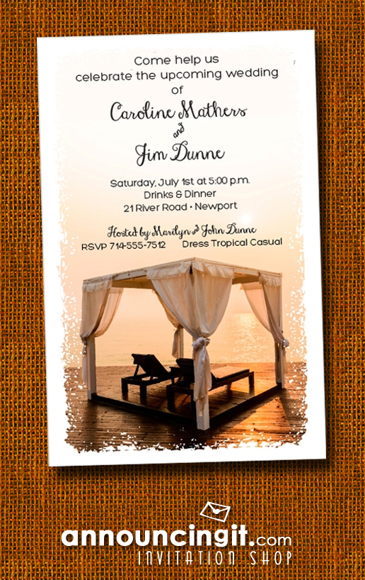 Summer Beach Cabana Party Invitations at Announcingit.com