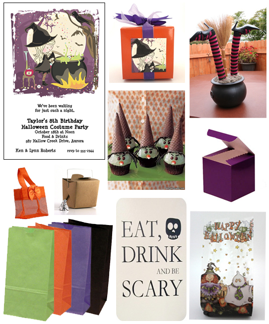 Cute witch halloween party ideas for Halloween party favor ideas
