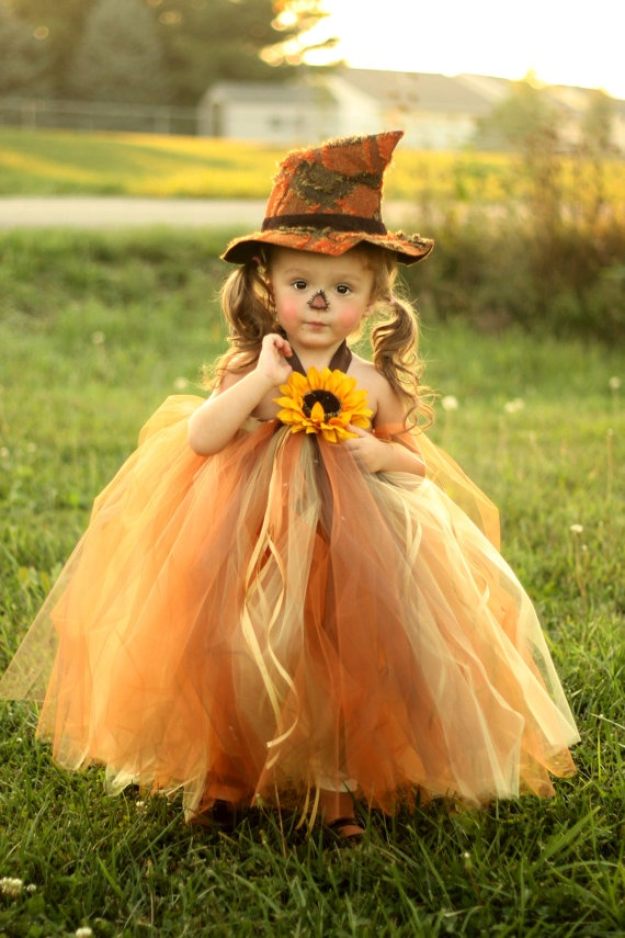Little Girl's Halloween Scarecrow Costume