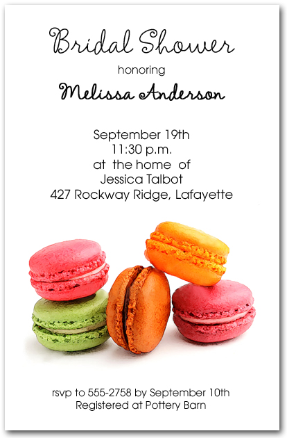 Macaroons Party Invitations