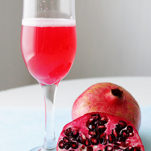 New Year's Eve Pomegranate Champagne Cocktails