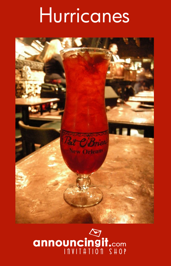 Mardi Gras Hurricane Cocktail Recipe   Announcingit.com