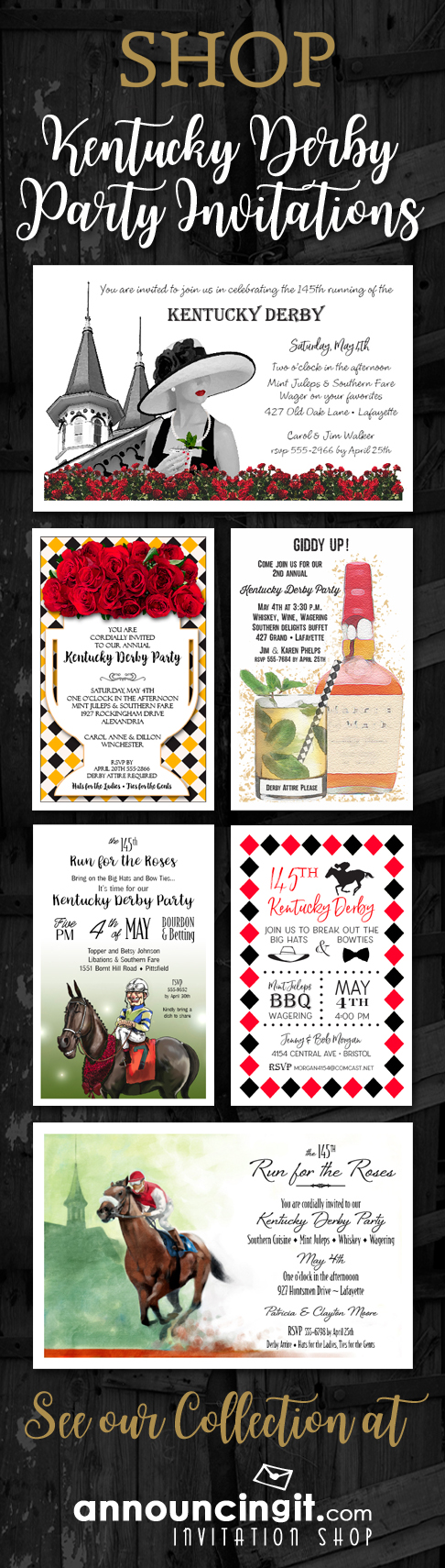 Shop Kentucky Derby Party Invitations at Announcingit.com