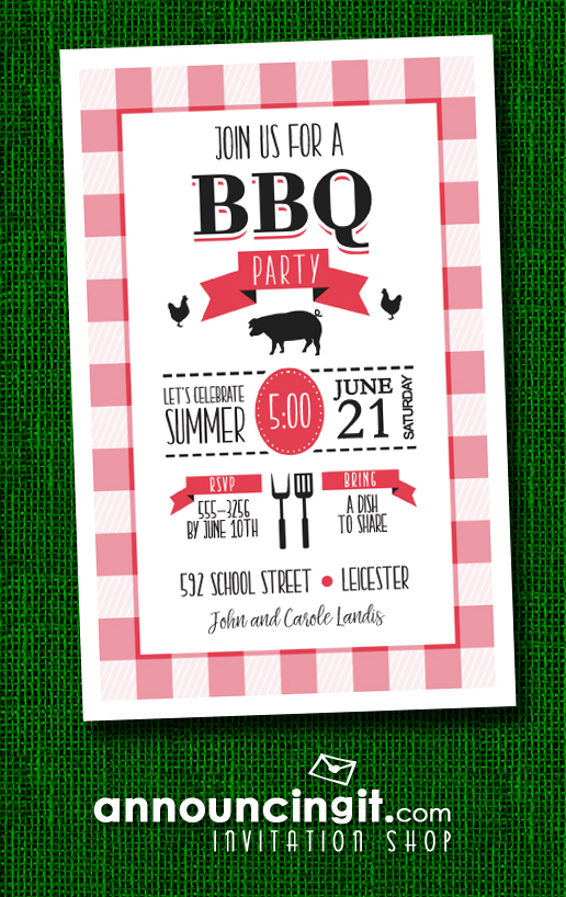 Time to Grill BBQ Party Invitations at Announcingit.com