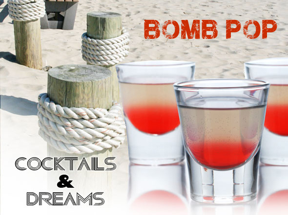 4th of July Bomb Pop Cocktail Recipe