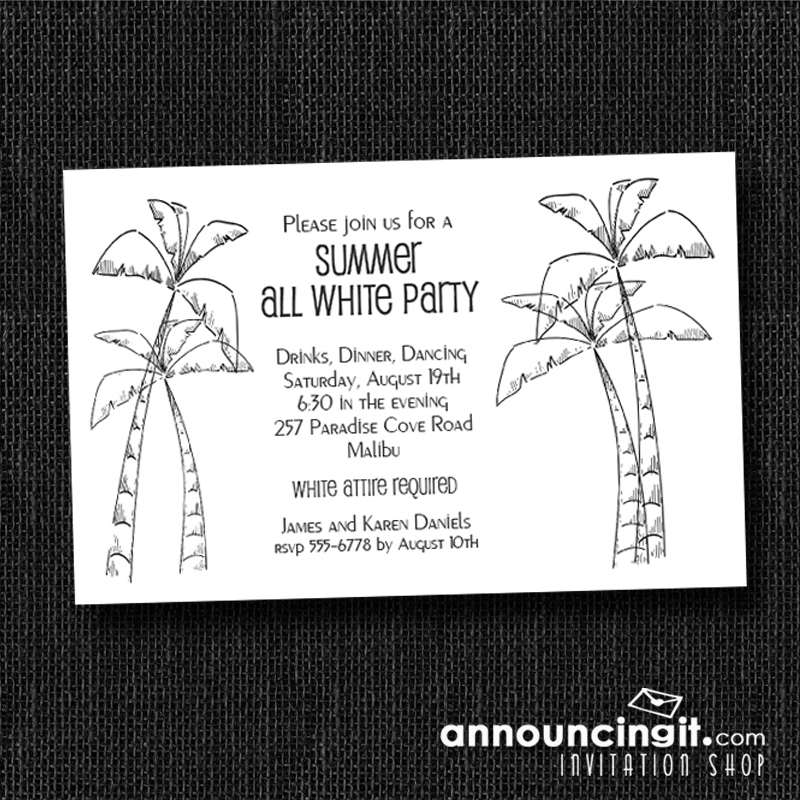 white party invitations and inspiration, Party invitations