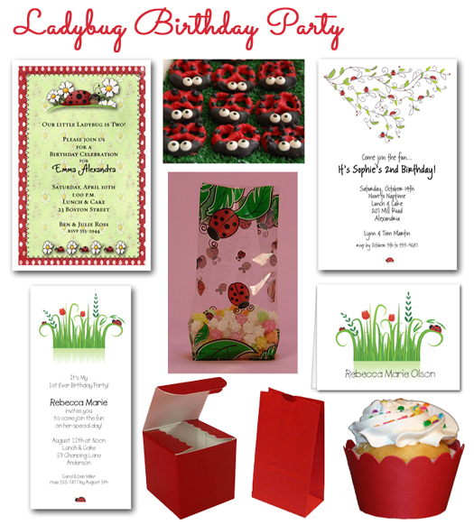 Ladybug Birthday Party Invitations and PlanningTips
