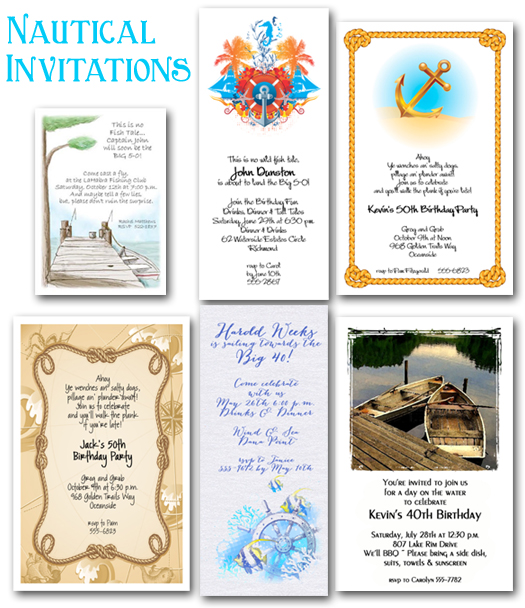 set sail with nautical invitations party theme