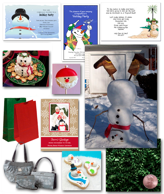 Snowmen Invitations and Holiday Party Ideas
