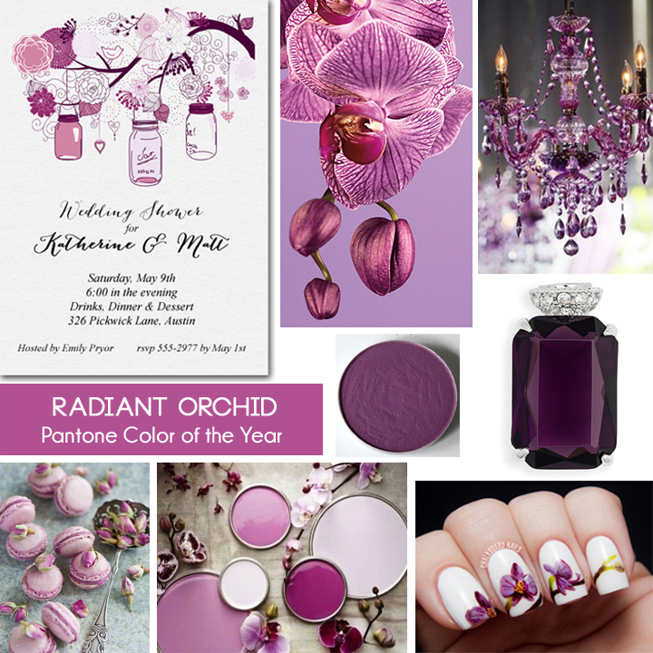 Radiant Orchid Inspiration Board