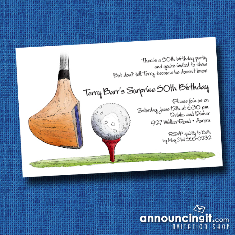 Golf Driver Party Invitations at Announcingit.com