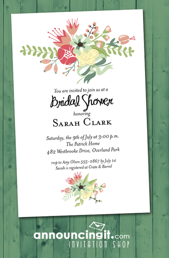 5477476c662 Flower Garden Shower Invitations