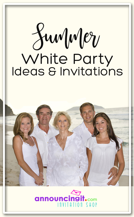 Summer All-White Party Attire Party Invitations | Announcingit.com